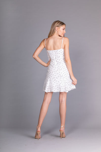 Starry Eyed White Ruffle Dress - John and Suki