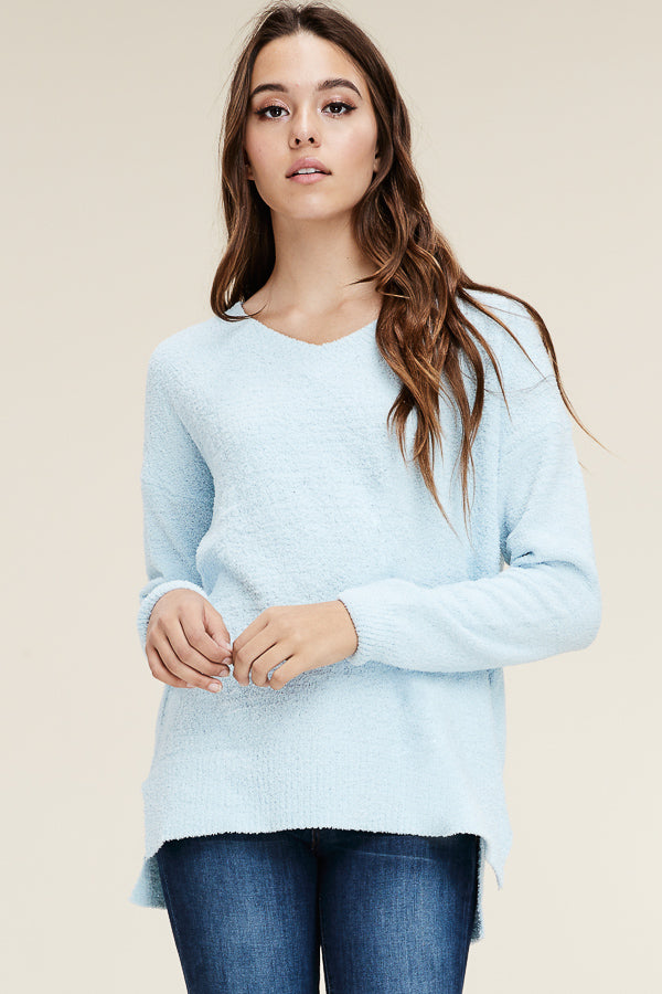 Powder Blue Soft Sweater - John and Suki