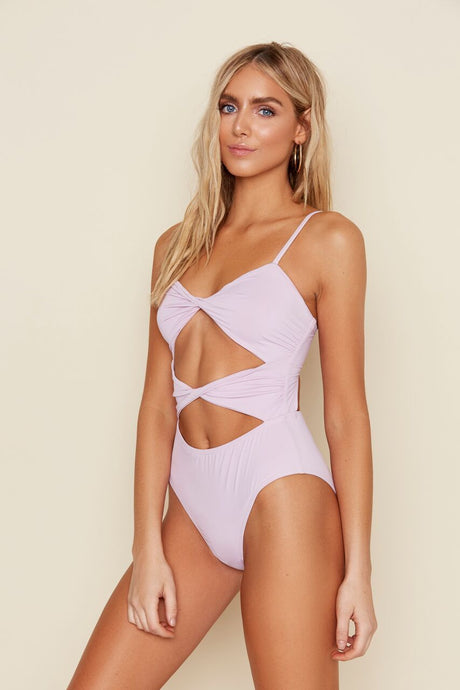Don't Get It Twisted Lilac One Piece Swimsuit - John and Suki