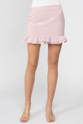 Star Bright Pink Mini Skirt - John and Suki
