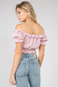 Star Bright Pink Crop Top - John and Suki
