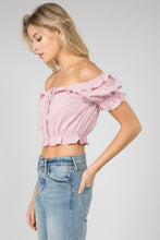 Load image into Gallery viewer, Star Bright Pink Crop Top - John and Suki