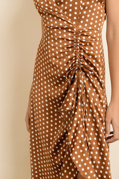 Fallin All In You Polka Dot Midi Dress - John and Suki