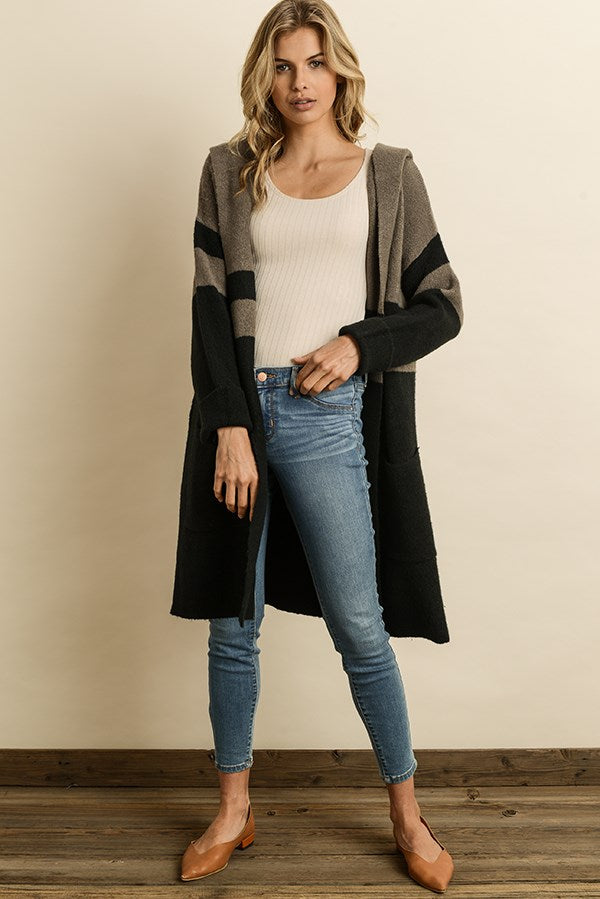 Hannah Colorblock Cardigan - John and Suki