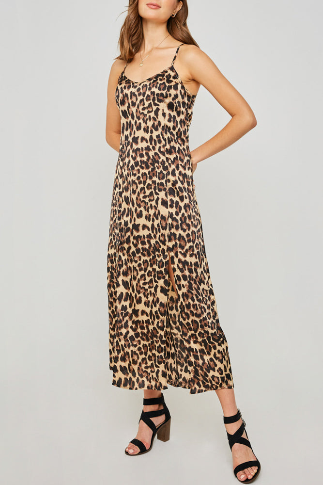 Dorothy Leopard Slip Maxi Dress - John and Suki