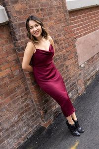 Merlot Slip Dress - John and Suki