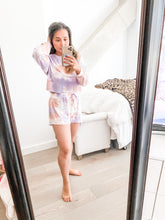 Load image into Gallery viewer, Violet Tie Dye Shorts