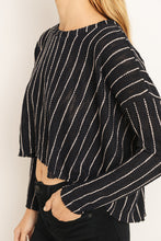 Load image into Gallery viewer, All About It Striped High Low Sweater - John and Suki