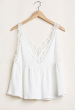 Load image into Gallery viewer, Dainty Babydoll White Tank