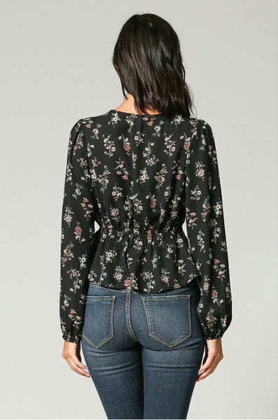 Floral Rush Front Tie Shirt - John and Suki