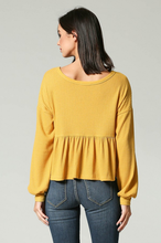 Load image into Gallery viewer, Mustard Waffle Knit Top - John and Suki