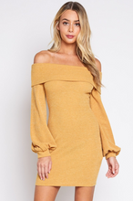 Load image into Gallery viewer, Cold Shoulder Knit Dress - John and Suki