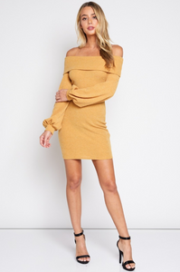 Cold Shoulder Knit Dress - John and Suki