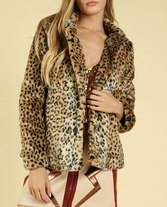 In The Wild Leopard Jacket Short - John and Suki