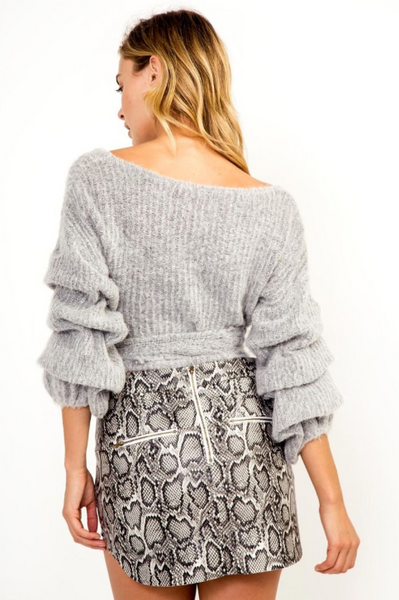 Ruffle Me Up Wrap Sweater - John and Suki