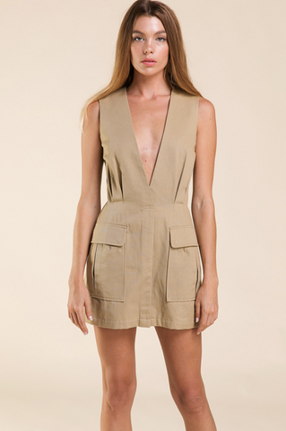 Safari Khaki Dress - John and Suki