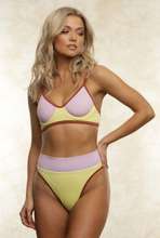 Load image into Gallery viewer, Lola Color Block Bikini Top - John and Suki