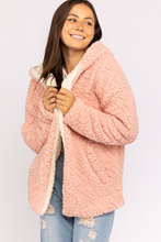 Load image into Gallery viewer, Eliza Reversible Pink and Ivory Sherpa Sweater - John and Suki