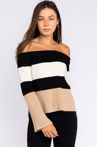Vanessa Color Block Sweater - John and Suki
