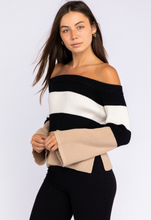 Load image into Gallery viewer, Vanessa Color Block Sweater - John and Suki