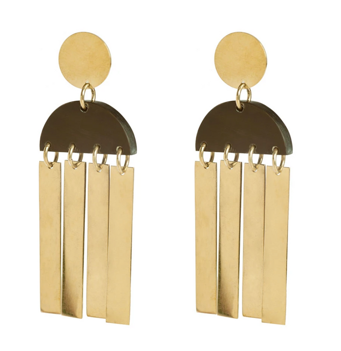 Maxi Horn Cala Earrings - John and Suki