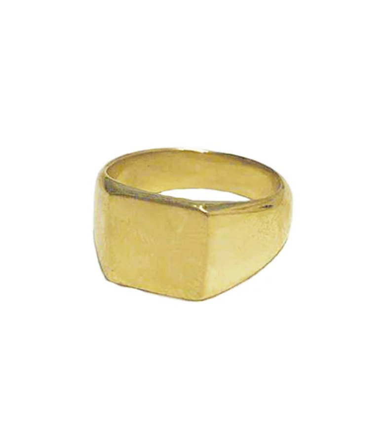 Square Signet Pinky Ring - John and Suki
