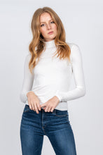 Load image into Gallery viewer, Leona White Ribbed Long Sleeve Turtleneck - John and Suki
