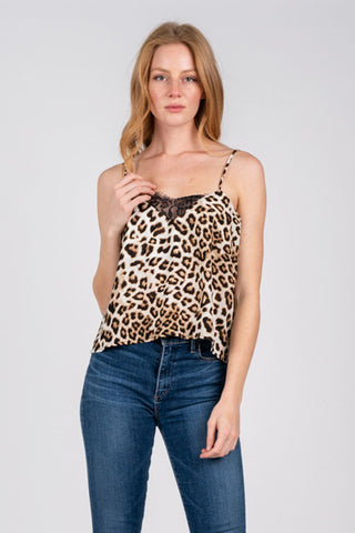 Girls Night Out Leopard Lace Tank