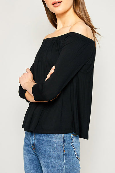 Back To Black Off The Shoulder Top - John and Suki