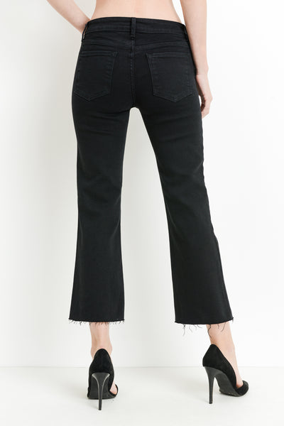 Black High Rise Flare Jeans - John and Suki