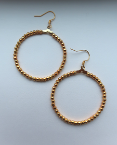 Beaded Hoop Earring - John and Suki