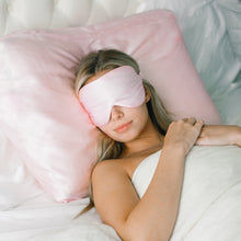 Load image into Gallery viewer, Silk Eye Mask - Blush - John and Suki
