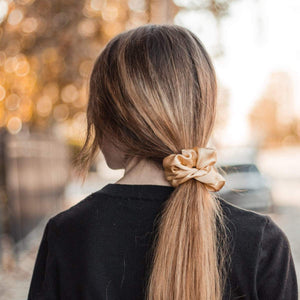 Gold Silk Scrunchie - John and Suki