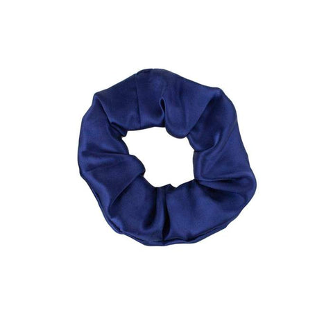 Navy Silk Scrunchie - John and Suki