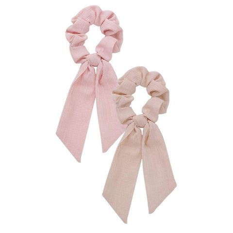 Scarf Scrunchie Set Blush/Mauve - John and Suki