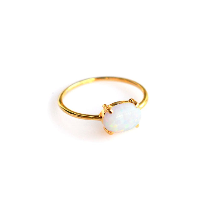 Opal Solo Claw Ring - John and Suki