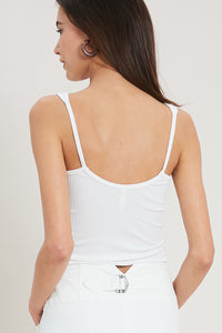 Out From Under Ivory Ribbed Cropped Tank - John and Suki