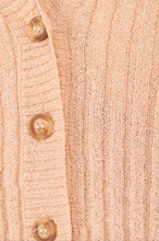 Load image into Gallery viewer, Dusty Peach Cropped Cardigan - John and Suki
