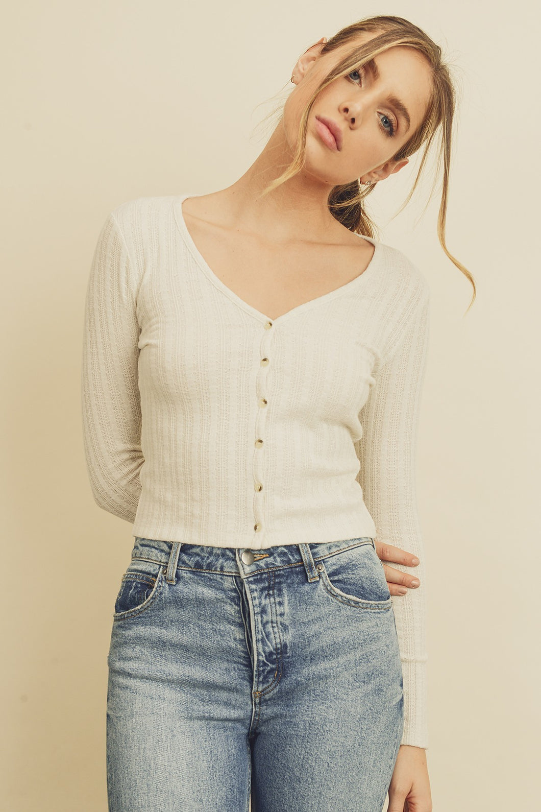 Not Your Grandmas Ivory Cardigan