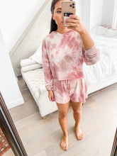Load image into Gallery viewer, Pink Tie Dye Cropped Hoodie