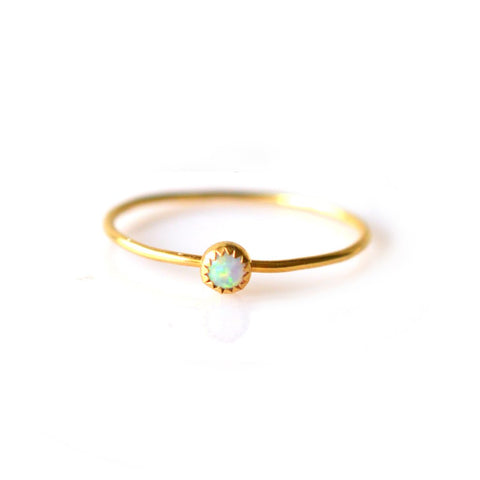 Gold Opal Solo Ring - John and Suki