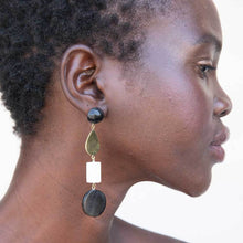 Load image into Gallery viewer, Luo Mixed Material Dangle Earrings - John and Suki