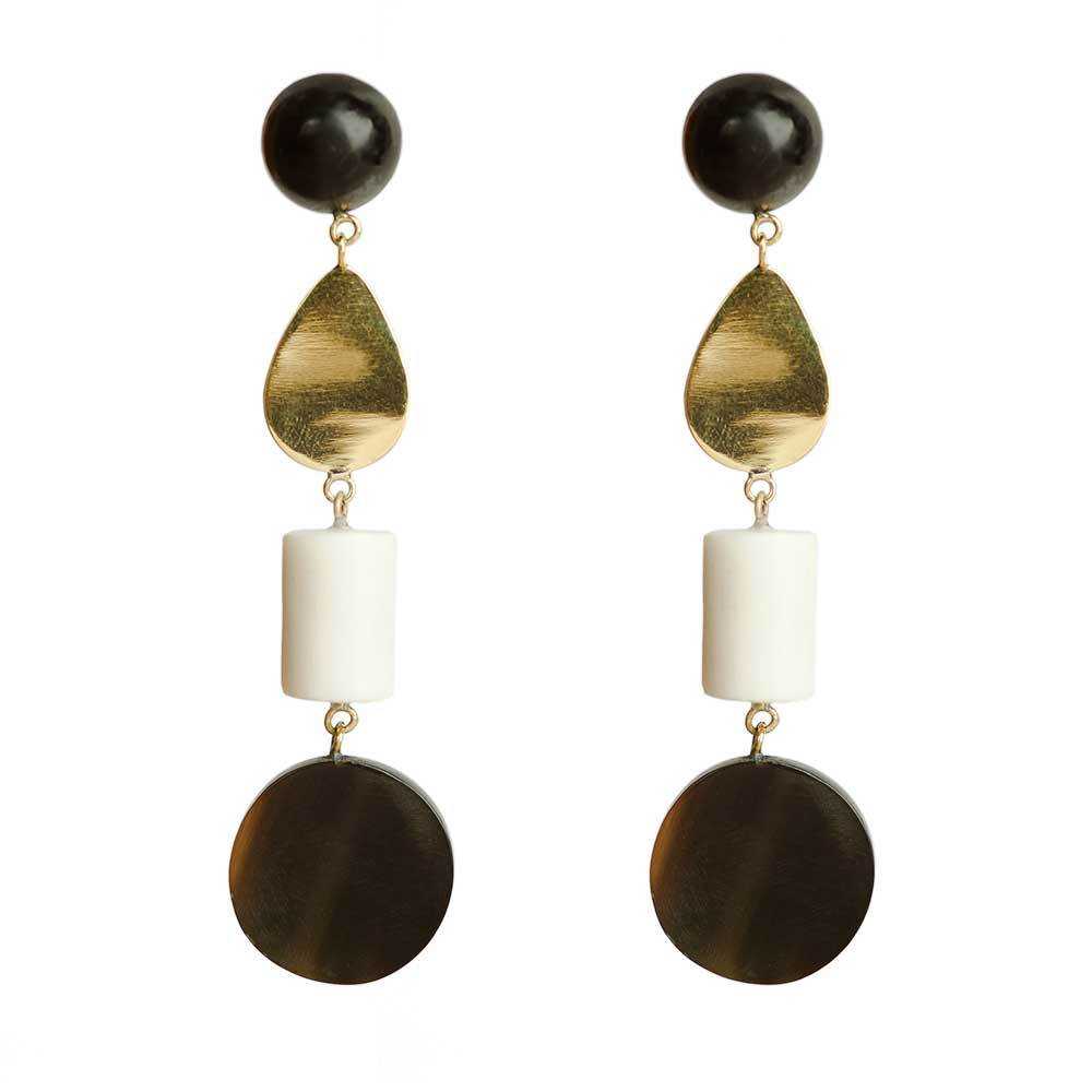 Luo Mixed Material Dangle Earrings - John and Suki