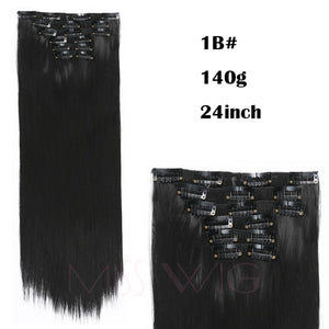 "24"" Straight Synthetic Hair Extension ( 6 Pieces / Set ) 