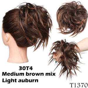 Modern Messy | Synthetic Hair Extension Bun | 14 Colors - Wig Experts