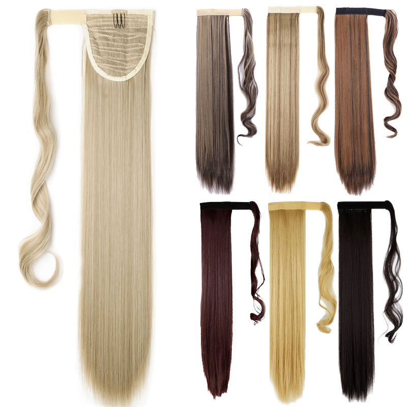 "23"" Straight Synthetic Hair Extension Pony Tail ( Wrap Around ) 