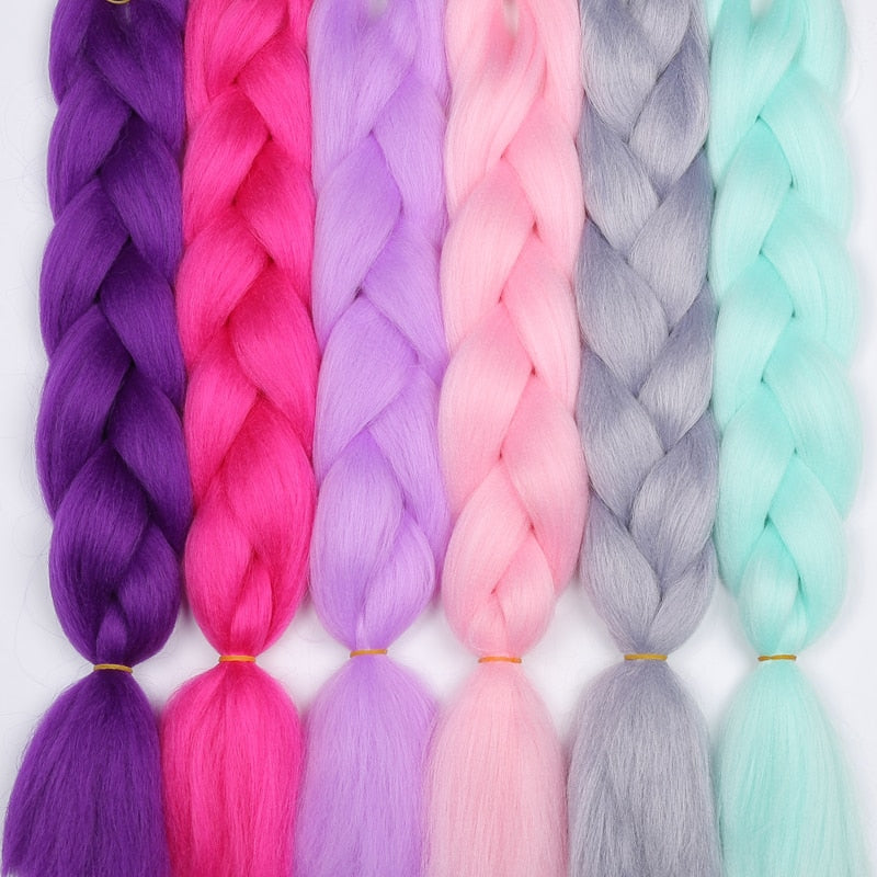 "24"" Synthetic Hair Extension Jumbo Braids ( 1 Strand / Set ) 