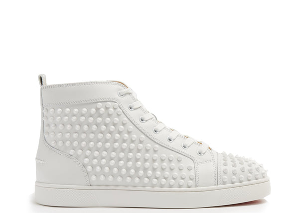 LOUIS SPIKED LEATHER HIGH-TOP TRAINERS