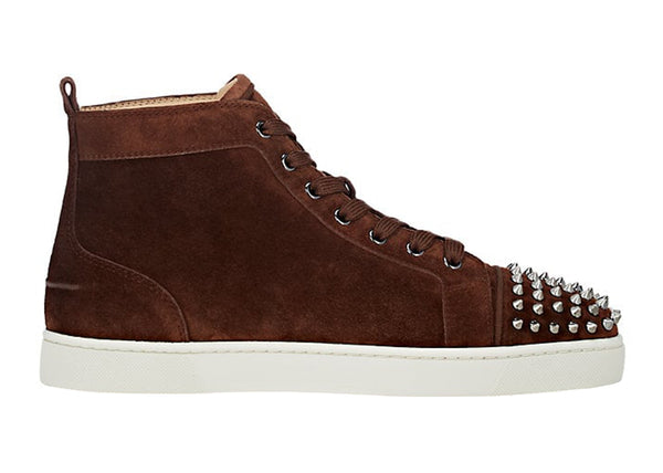 Lou Spikes Flat Suede Sneakers