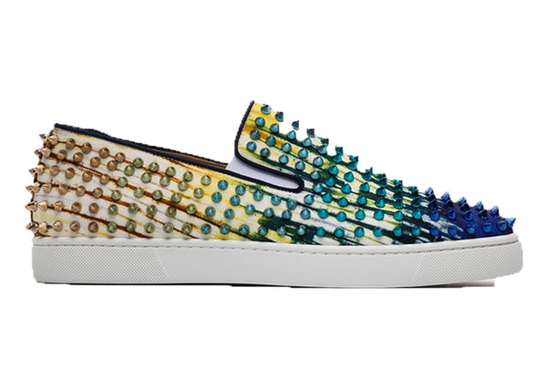 Blue Roller Boat Spike Low Top Sneakers